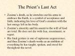 the priest s last act
