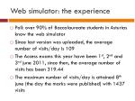 web simulator the experience