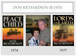 don richardson b 1935