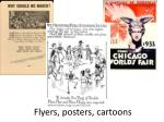 flyers posters cartoons