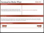 scenario role play