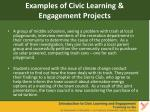 examples of civic learning engagement projects