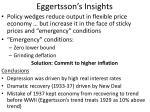 eggertsson s insights