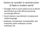 factors to consider in reconstruction of aqila in modern world