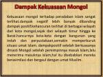 dampak kekuasaan mongol