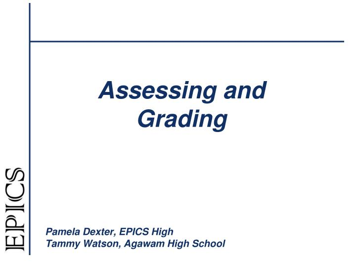 assessing and grading n.
