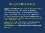 omega3 a klinick testy