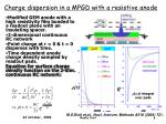 charge dispersion in a mpgd with a resistive anode