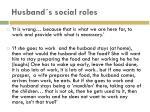 husband s social roles