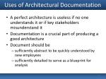 uses of architectural documentation