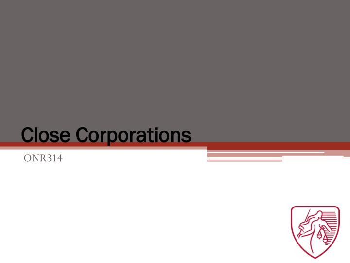 close corporations n.