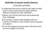 activities to teach social sciences economic activities