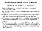 activities to teach social sciences teaching the concept of peninsula