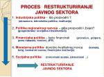 proces restrukturiranje javnog sektora