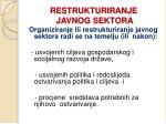 restrukturiranje javnog sektora