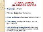 utjecaj javnog na profitni sektor
