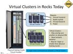 virtual clusters in rocks today