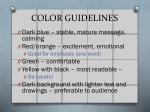 color guidelines1