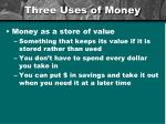 three uses of money3