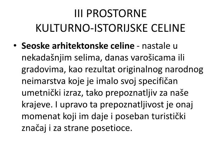 III PROSTORNE