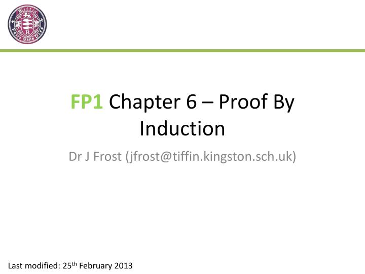 fp1 chapter 6 proof by induction n.