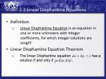 2 3 linear diophantine equations