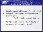 8 6 de moivre s theorem