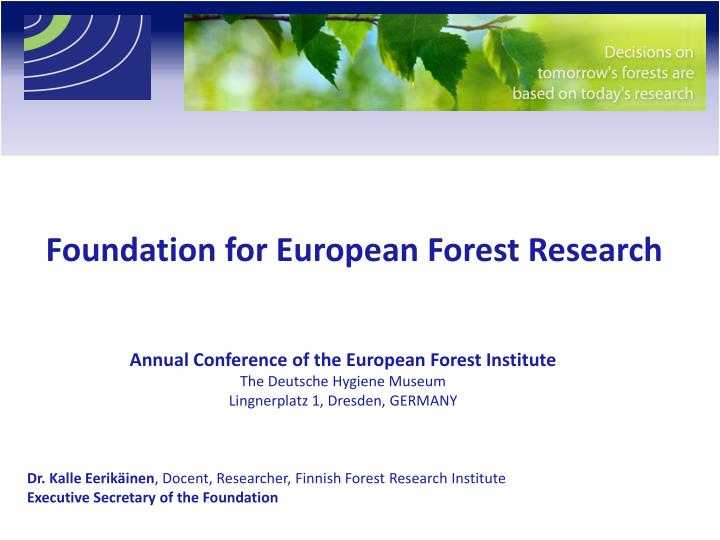 foundation for european forest research n.