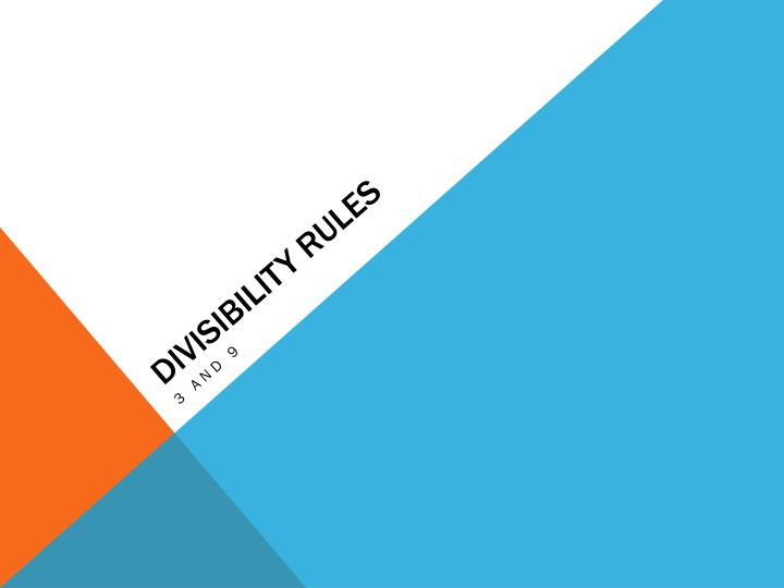 divisibility rules n.