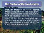 the parable of the two builders