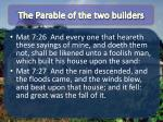 the parable of the two builders1