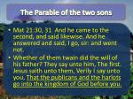 the parable of the two sons1