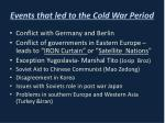 events that led to the cold war period