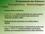 processamento dos pol meros termopl sticos rotomoldagem3