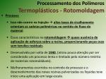 processamento dos pol meros termopl sticos rotomoldagem4