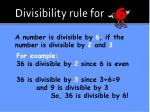 divisibility rule for4