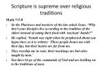 scripture is supreme over religious traditions