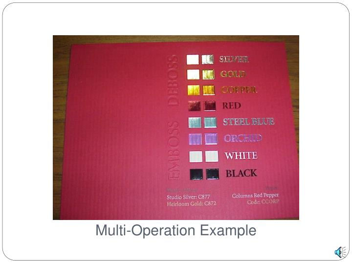 Multi-Operation