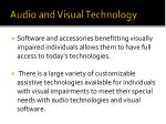 audio and visual technology