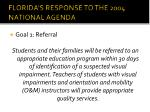 florida s response to the 2004 national agenda