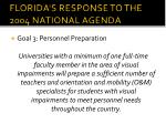 florida s response to the 2004 national agenda2
