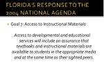 florida s response to the 2004 national agenda6