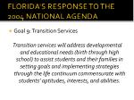 florida s response to the 2004 national agenda8