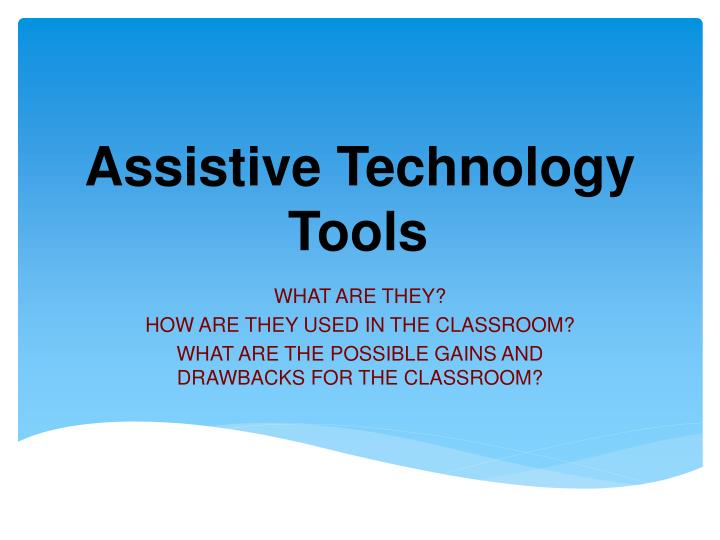 assistive technology tools n.