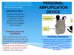 personal amplification device
