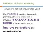 definition of social marketing