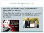 rosa parks opening eyes
