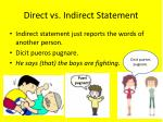 direct vs indirect statement