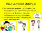 direct vs indirect statement1