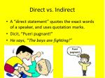 direct vs indirect